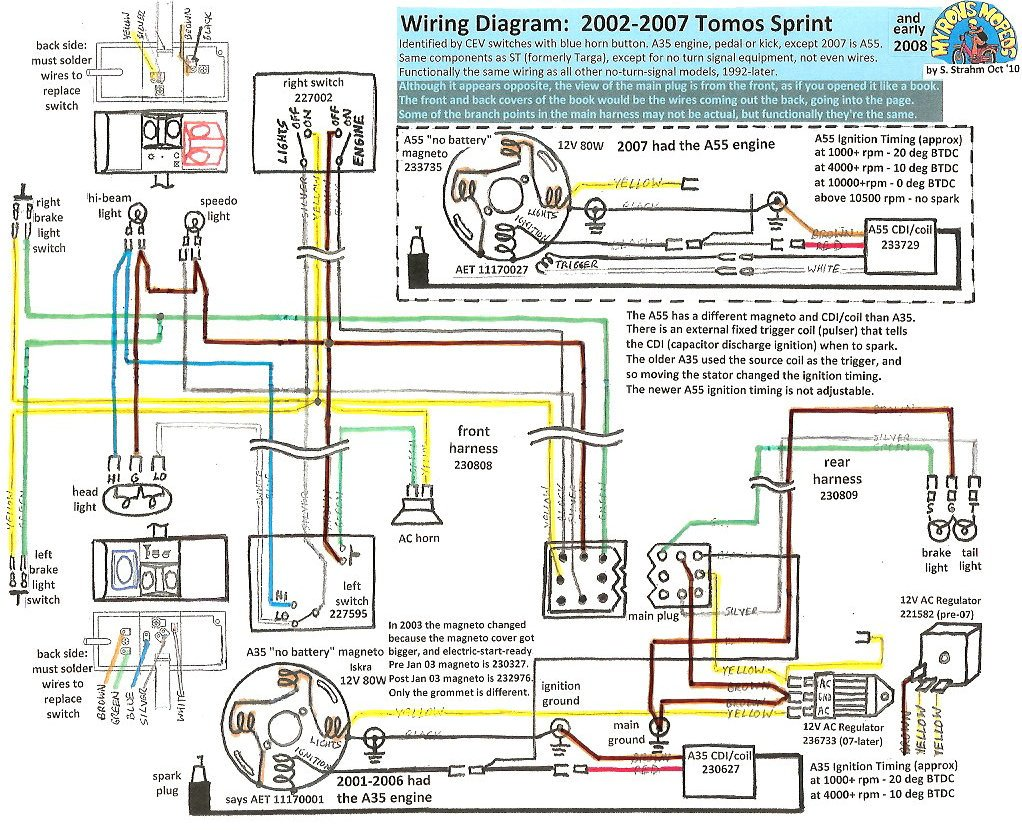 1978 Tomos Moped Wiring Diagram - Wiring Diagram and Schematic