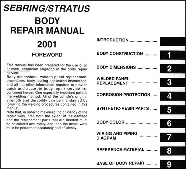Kb 8929 2001 Chrysler Sebring Wiring Schematic Download Diagram