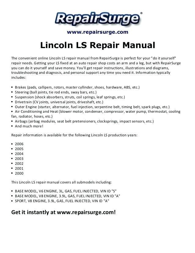 Ox 7587 2000 Lincoln Ls V8 Engine Diagram Schematic Wiring