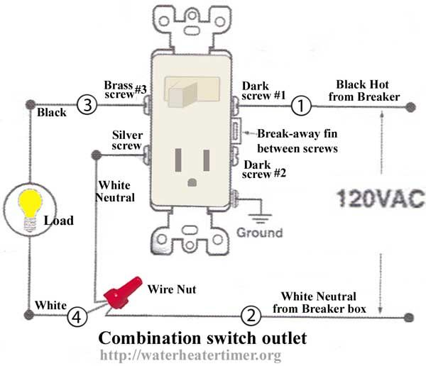 Terrific How To Wire Switches Combination Switch Outlet Light Fixture Turn Wiring Cloud Cranvenetmohammedshrineorg