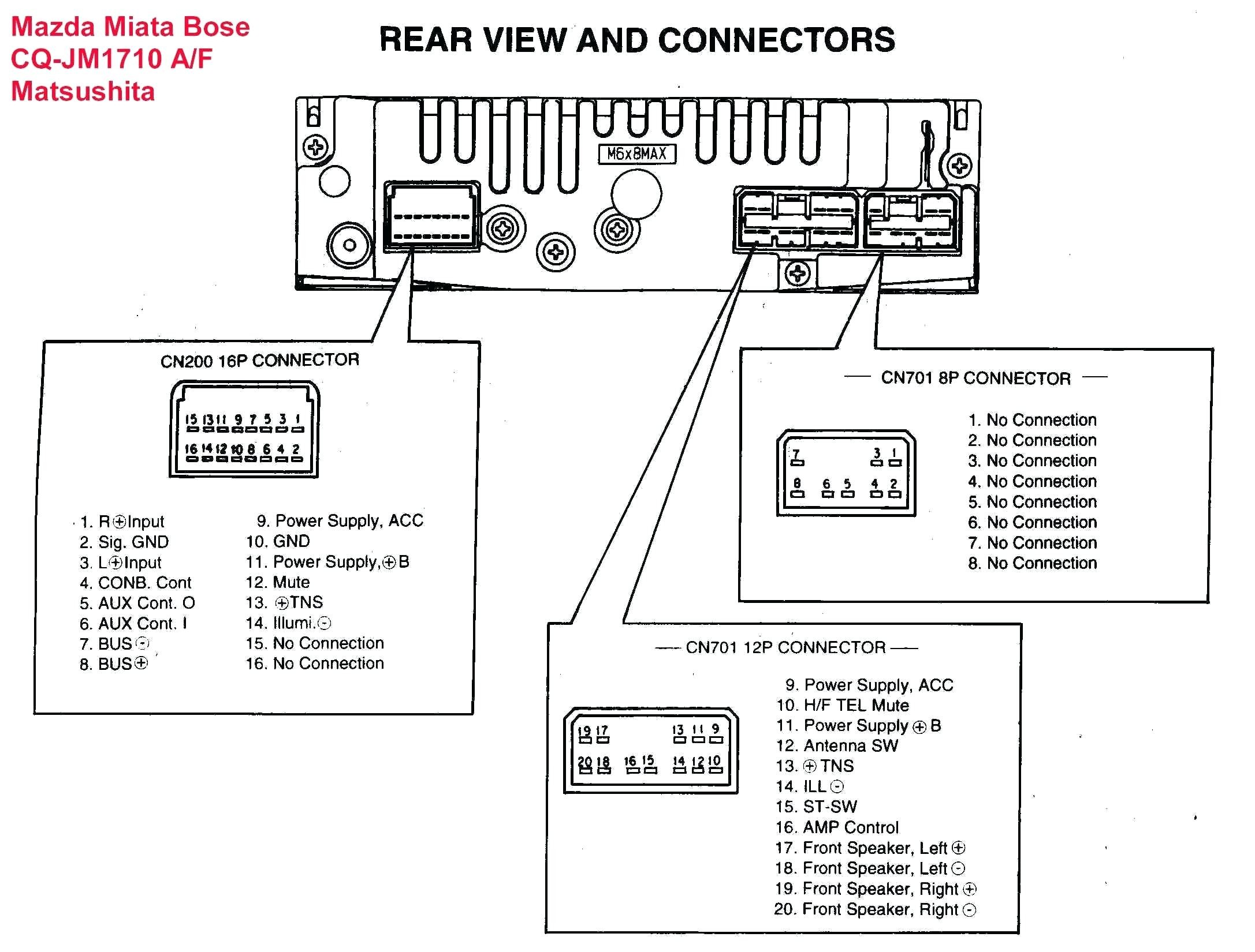 Wiring Diagram For Sony Car Radio