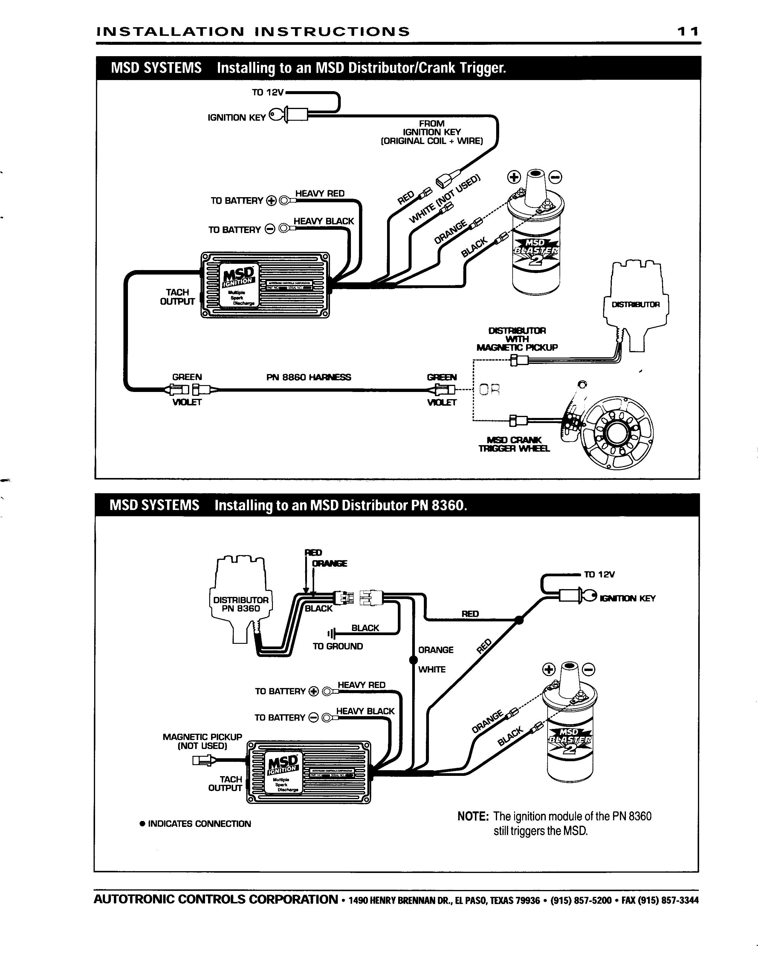 ford 460 msd 7al wiring diagram rw 9601  msd ignition wiring diagrams  rw 9601  msd ignition wiring diagrams