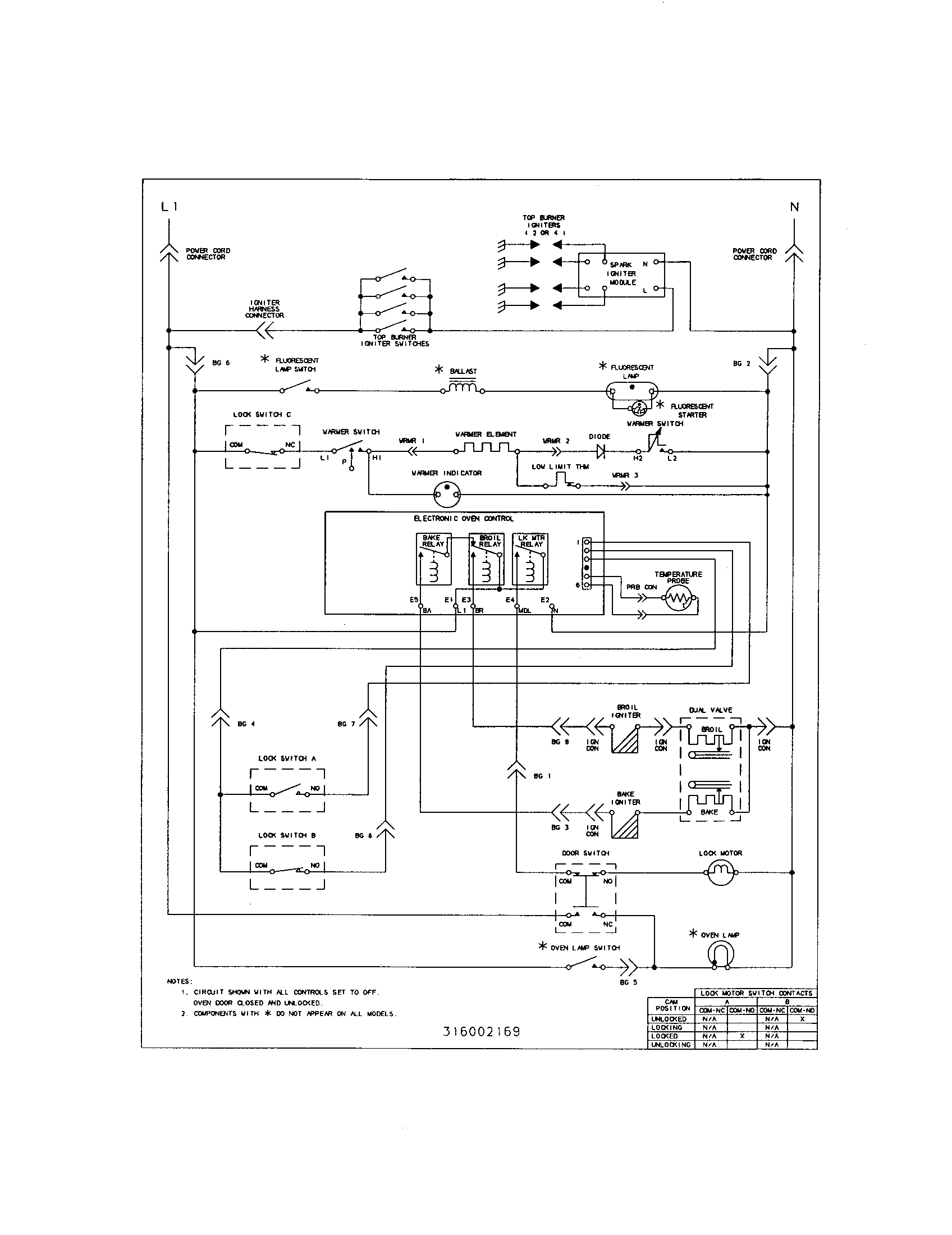 Wiring Diagram For Kenmore Gas Range