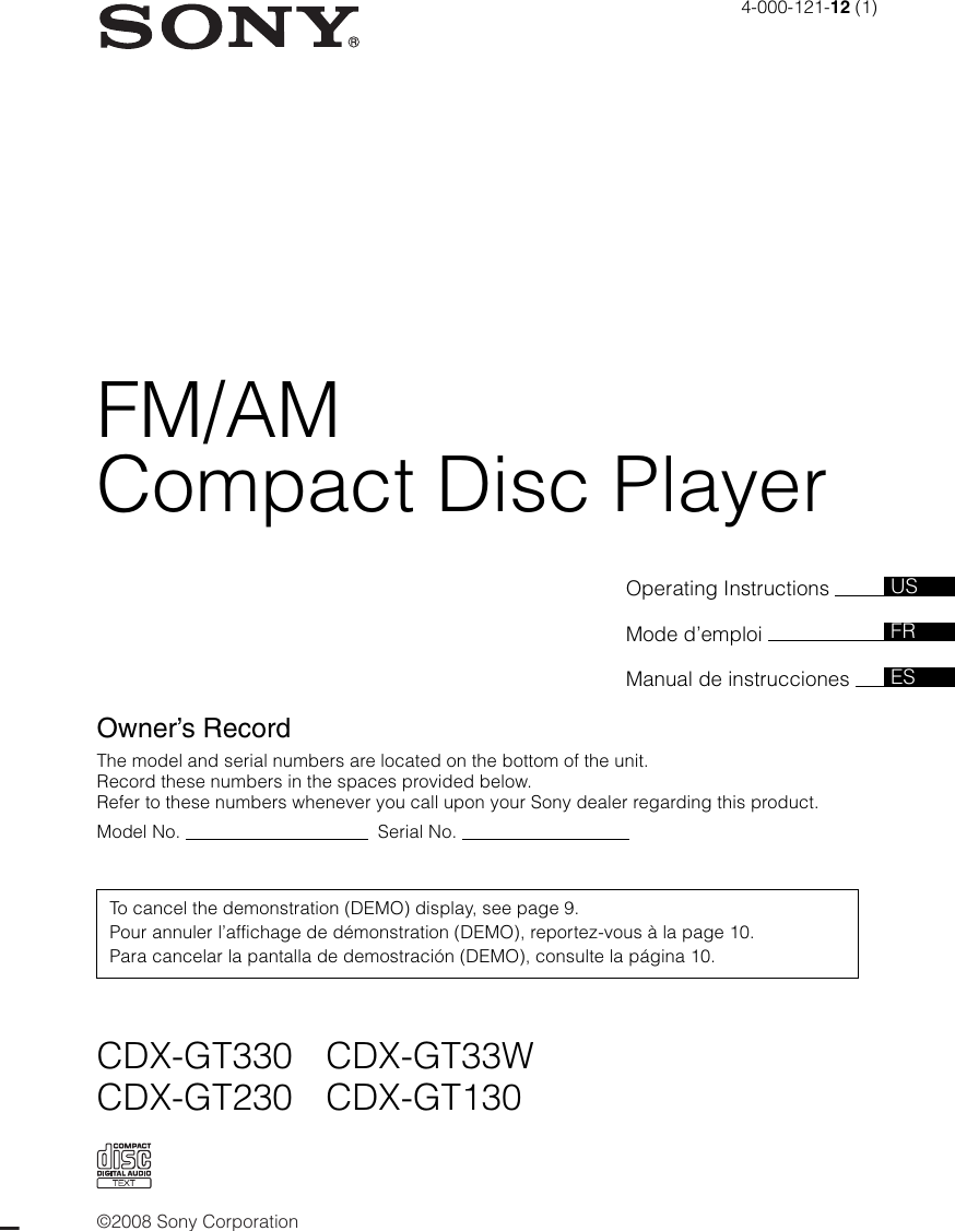 Replacement Faceplates Sony Cdx