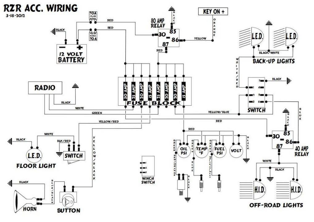 Polaris Rzr 170 Wiring Schematic - Wiring Diagram