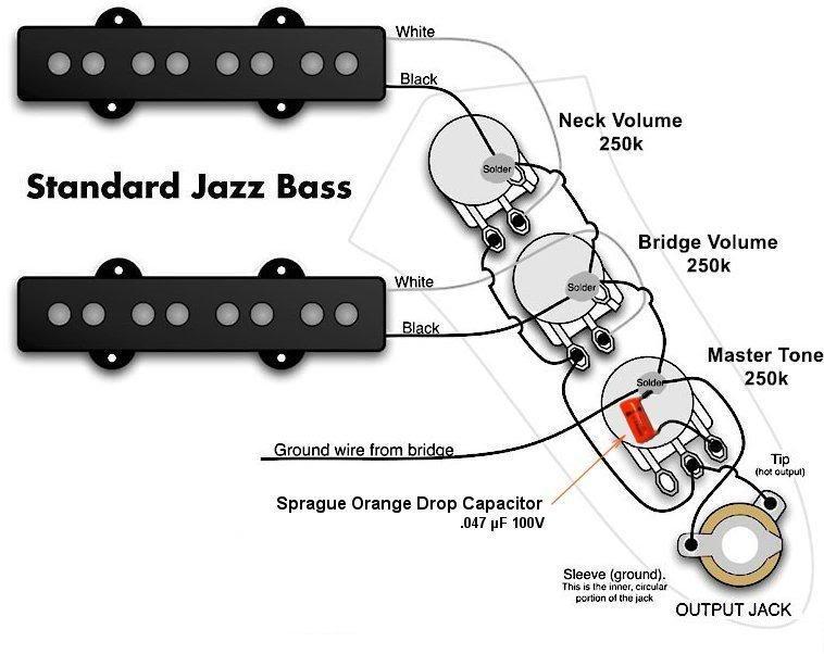 Wiring Diagram Fender Jazz Bass