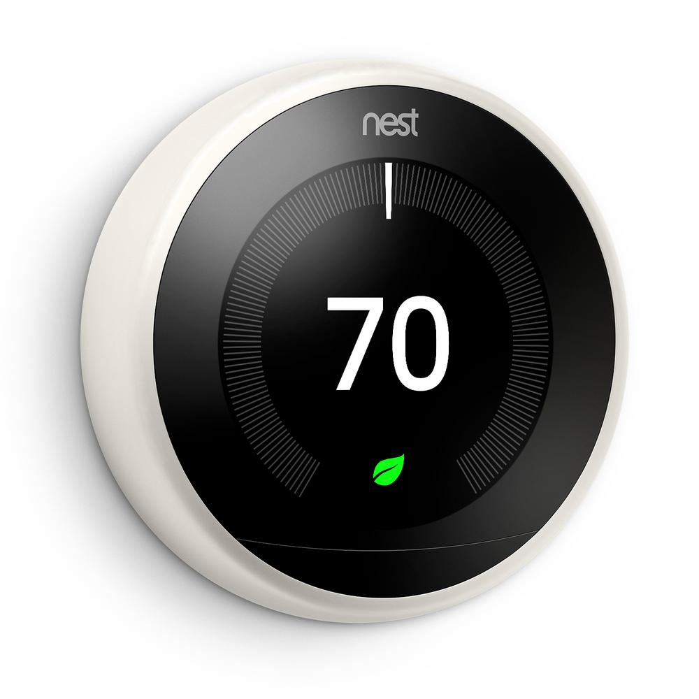 Brilliant Google Nest Learning Thermostat 3Rd Gen In White T3017Us The Home Wiring Cloud Domeilariaidewilluminateatxorg