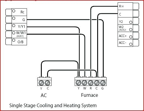 ac thermostat wire diagram hr 8194  thermostat wiring diagram on goodman single stage  thermostat wiring diagram on goodman