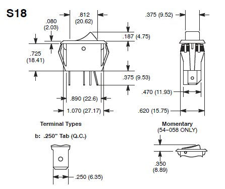 Bx 2514 Rocker Switch Wiring Diagram Spst Illuminated Rocker
