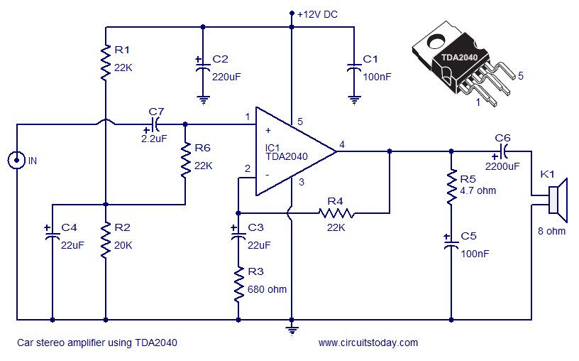 Ol 3660 Simple Audio Amplifier Circuit Diagram Electronic Circuit Diagram