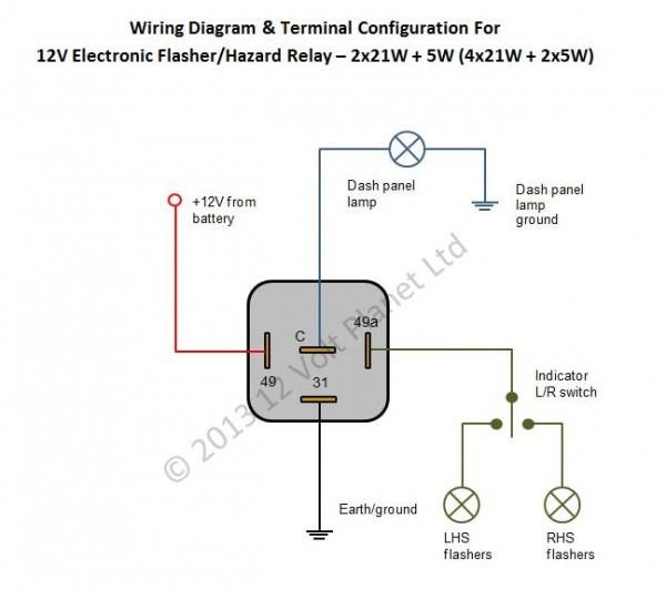 hella flasher wiring diagram of 4744  4 pin flasher diagram  of 4744  4 pin flasher diagram