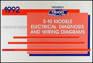 Cool 1992 Chevy S 10 Pickup Blazer Wiring Diagram Manual Original Wiring Cloud Timewinrebemohammedshrineorg