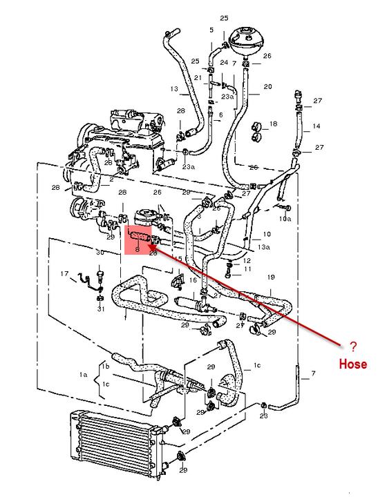 Vy 2107  Volkswagen Gli Coolant Pipe Volkswagen Circuit