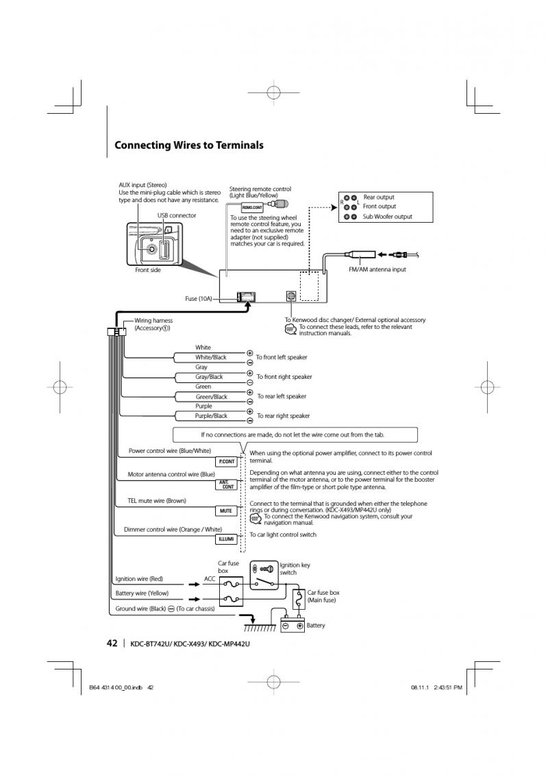 Kenwood Subwoofer Wiring Diagram