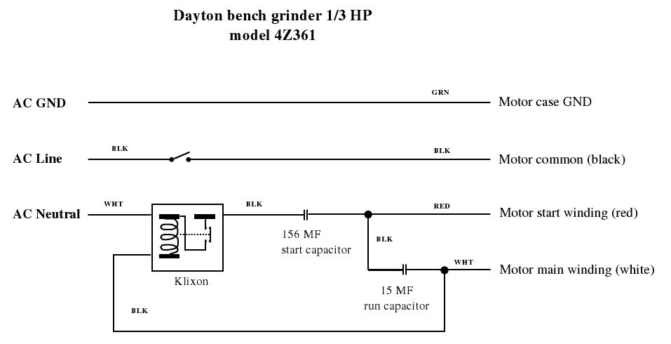 dayton grinder wiring diagram  honda eu3000is wiring