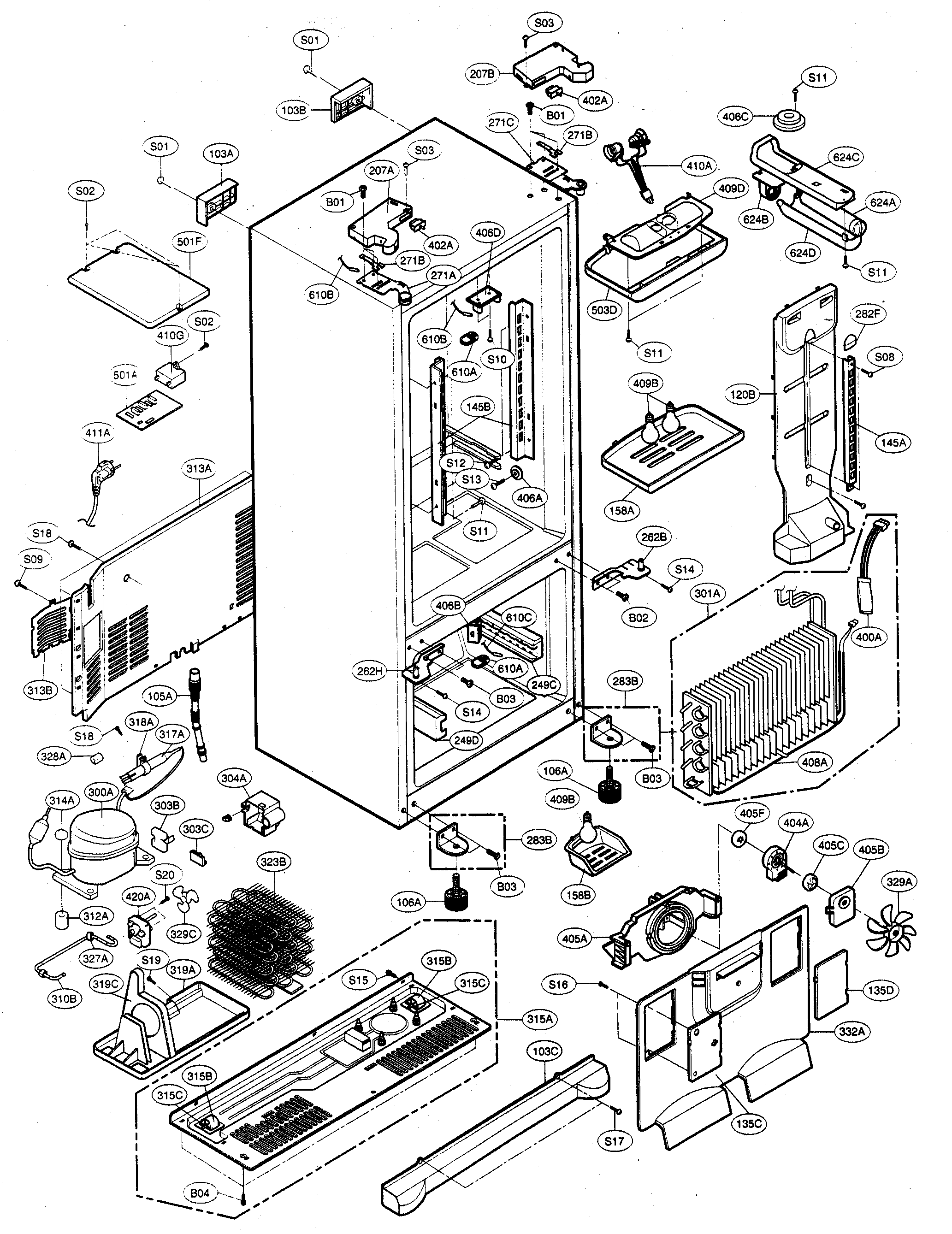 [WQZT_9871]  ZL_0386] Refrigerator Parts Diagram On Kenmore 795 Refrigerator Parts  Diagram Free Diagram | Sears Freezer Wiring Diagram |  | Pical Joami Kargi Peted Tivexi Lious Inrebe Mohammedshrine Librar Wiring 101