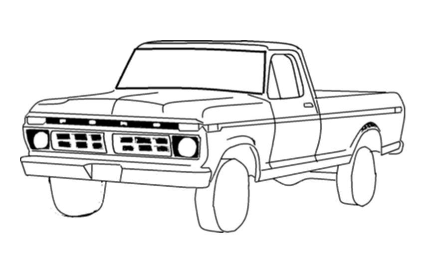 - TW_4396] Ford Raptor Truck Coloring Pages Schematic Wiring