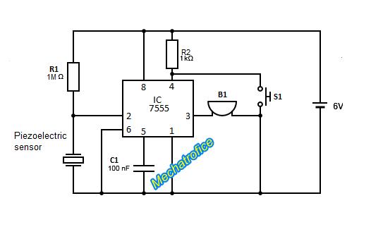 piezo transducer wiring diagram gk 9861  transducer circuitpiezoelectric ultrasonic transducer circuit  ultrasonic transducer circuit