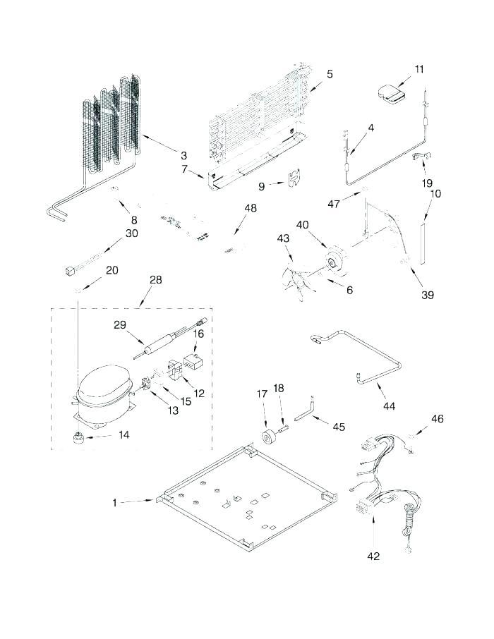 Fe 2222  Refrigerator Parts Sears Kenmore Refrigerator Parts Diagram Download Diagram