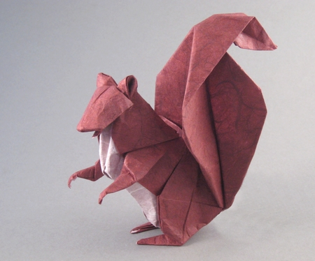 Squirrel | Origami easy, Origami crafts, Origami instructions | 374x450