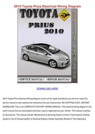 Nl 8305 2010 Toyota Prius Wiring Diagram Free Diagram