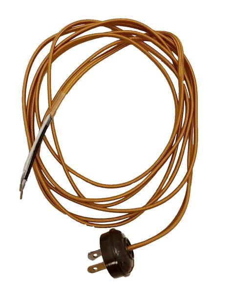 Astonishing Rayon Lamp Cord Set With Antique Style Plug Lighting Supplies Wiring Cloud Monangrecoveryedborg