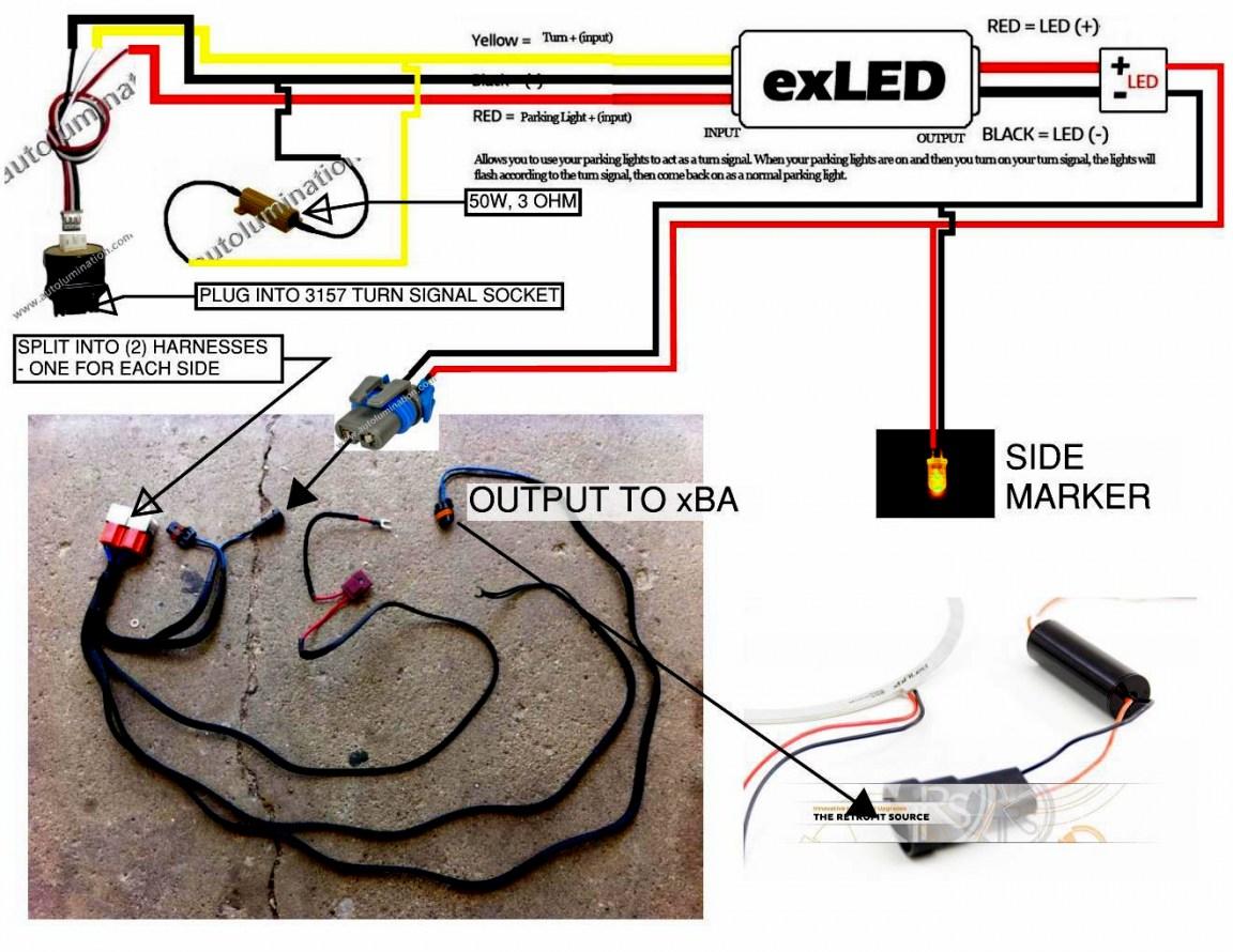 Universal Motorcycle Headlight Led Turn Signal Indicators Wiring Diagram - Database