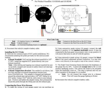 glowshift gauge wiring diagram fender double neck wiring
