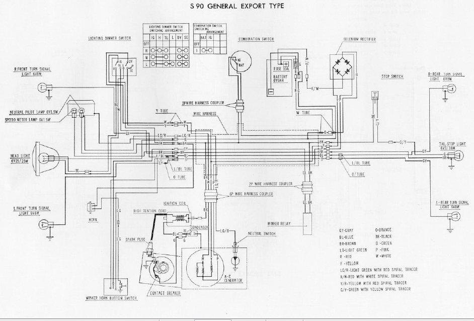 honda s90 wiring harness az 6798  honda s 90 electrical wiring diagram schematic wiring  honda s 90 electrical wiring diagram