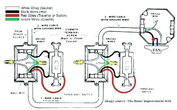 Three Way Switch Wiring Diagram Ceiling Fan