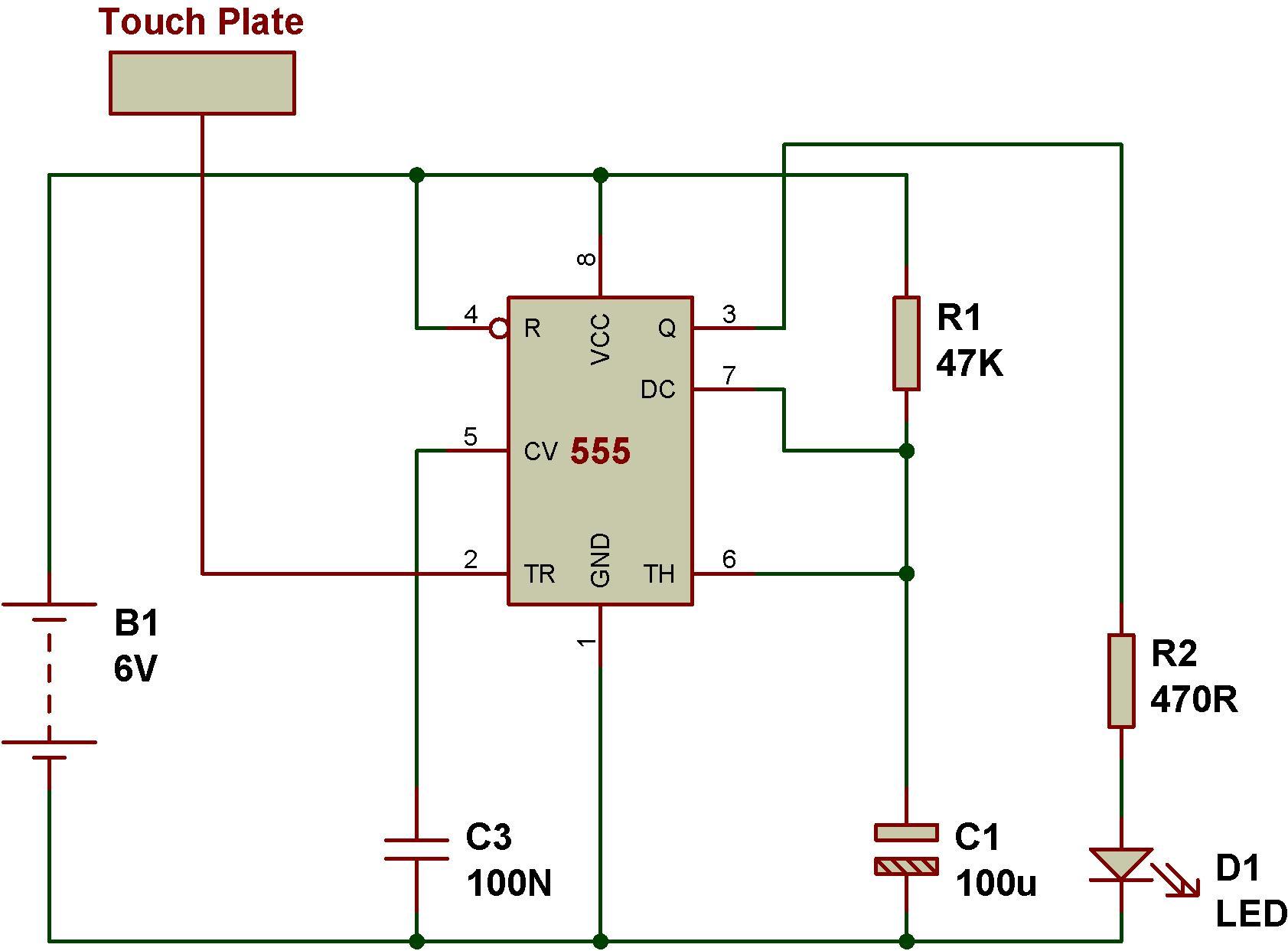 Prime Touch Switch Circuit Using 555 Basic Electronics Wiring Diagram Wiring Cloud Picalendutblikvittorg