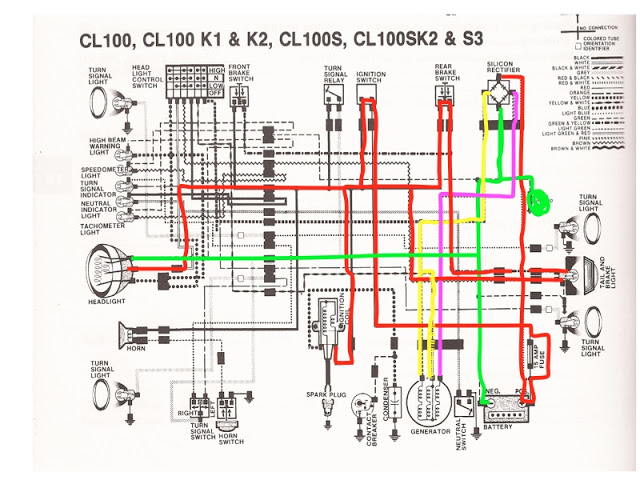 Wn 0939 Honda 250 And 300 Model C72 C77 Electrical Wiring Diagram Wiring Diagram