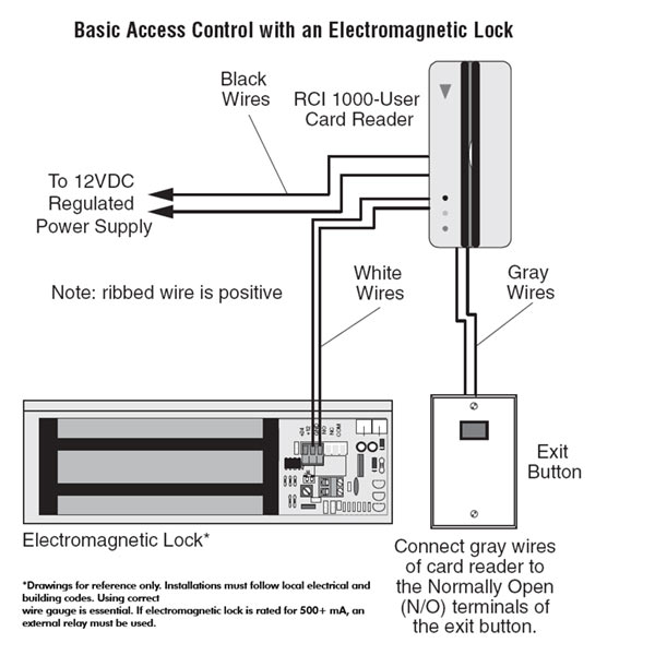 External Mag Lock Wiring Diagram    Solve The Problem Sticky Maglock    Buy Electromagnetic Lock