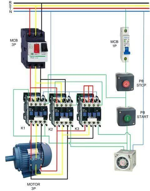 At 9712 Wiring Diagram Of Star Delta Starter With Timer Free Diagram