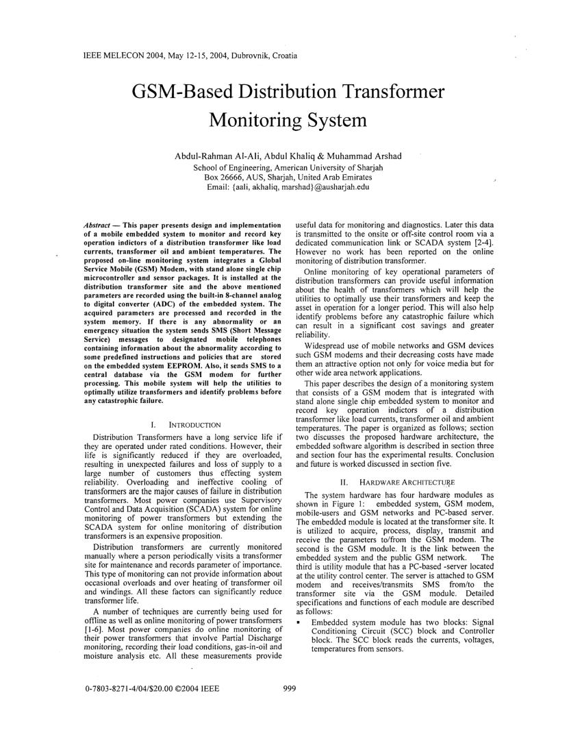 Strange Pdf Gsm Based Distribution Transformer Monitoring System Wiring Cloud Rometaidewilluminateatxorg