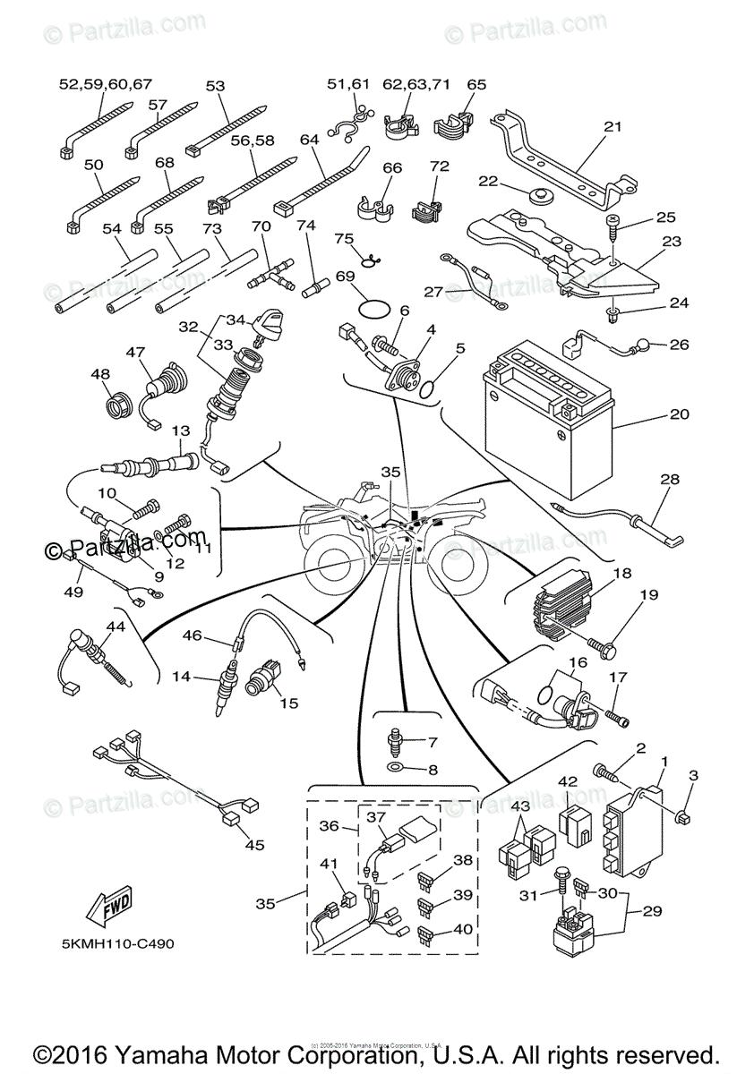 2006 Yamaha Rhino 660 Wiring Diagram