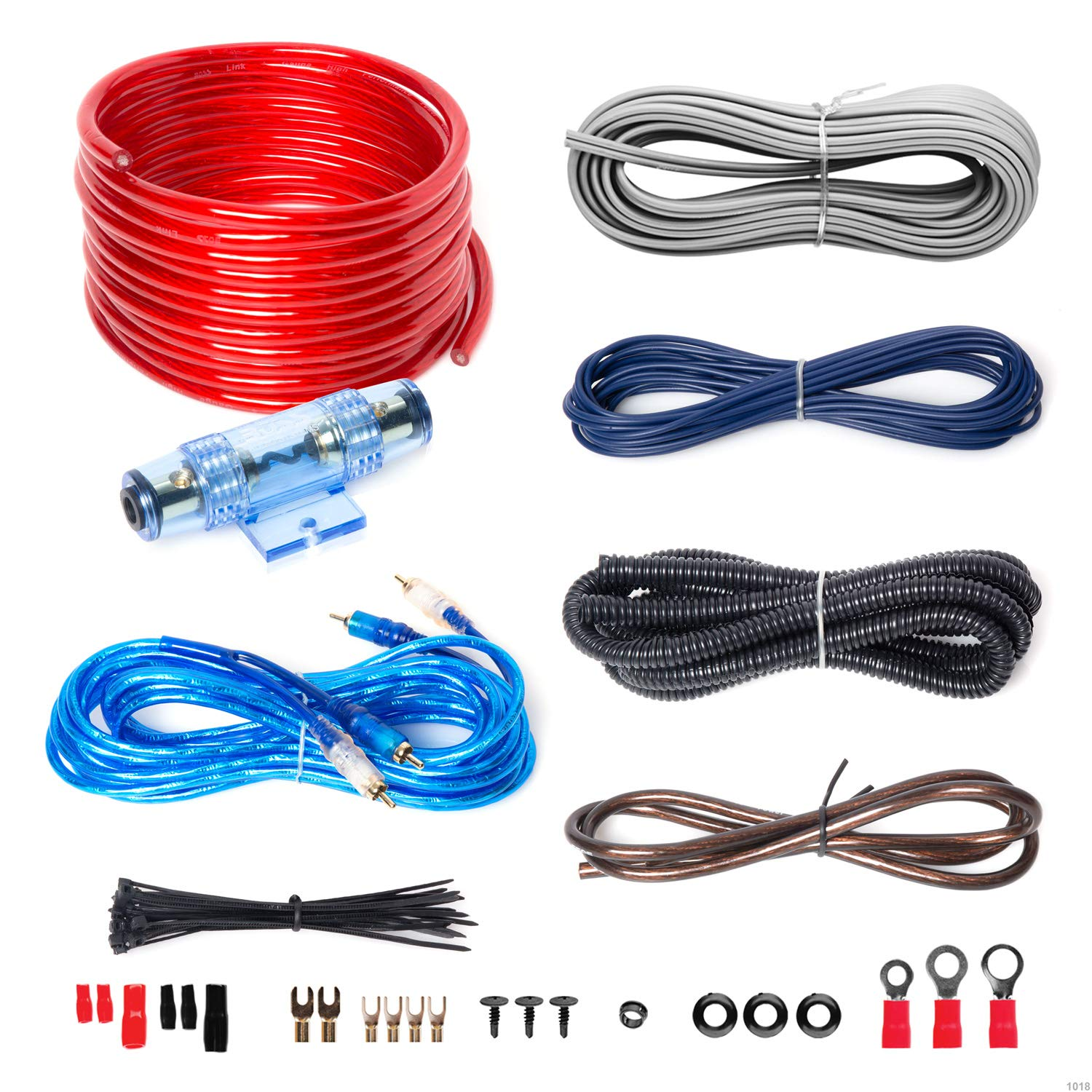 Stupendous Boss Audio Kit2 8 Gauge Amplifier Installation Wiring Kit A Car Amplifier Wiring Kit Helps You Make Connections And Brings Power To Your Radio Wiring Cloud Animomajobocepmohammedshrineorg