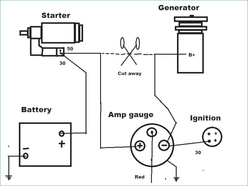 amperage gauge wiring diagram  schematic wiring diagram
