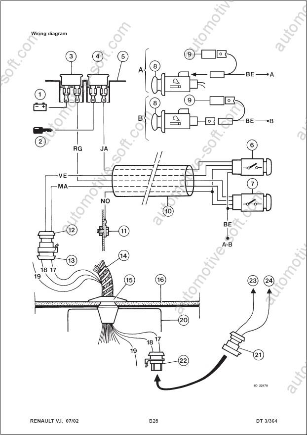 renault trafic air bag wiring diagram  hard wiring diagram