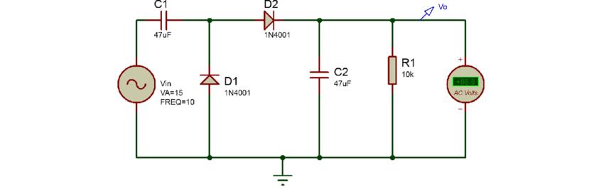 Fabulous Voltage Doubler Circuit Download Scientific Diagram Wiring Cloud Picalendutblikvittorg