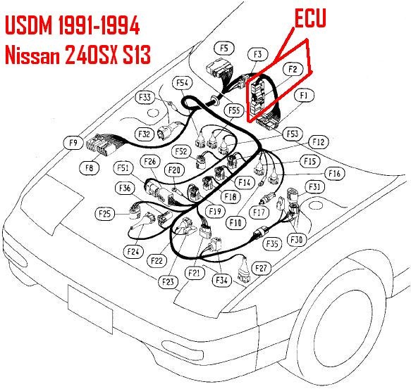 nissan 240sx wiring harness diagram  wiring diagrams