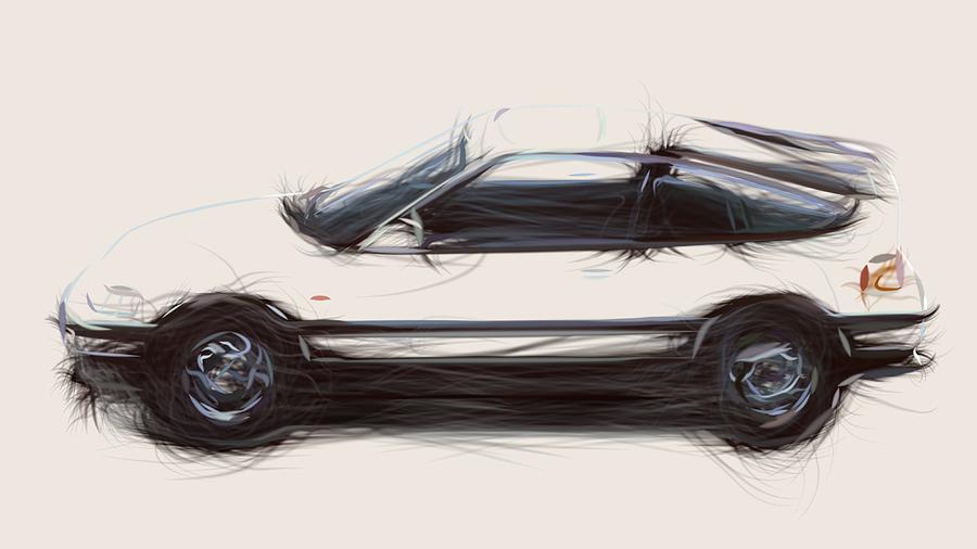 Terrific Honda Prelude Draw Digital Art By Carstoon Concept Wiring Cloud Apomsimijknierdonabenoleattemohammedshrineorg