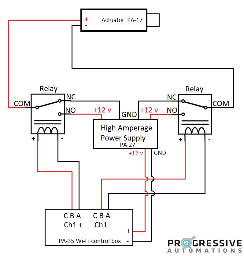 Linear Actuator Controller Wiring