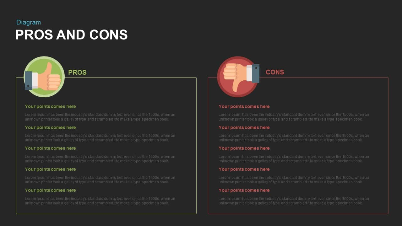 Incredible Pros And Cons Powerpoint Template And Keynote Slide Slidebazaar Wiring Cloud Faunaidewilluminateatxorg