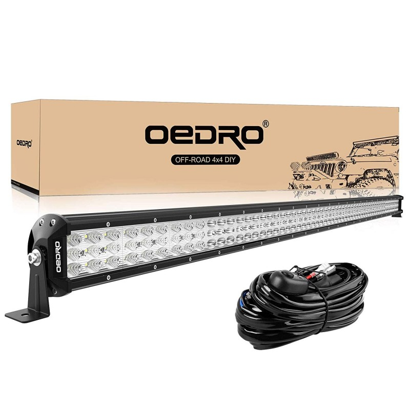 Wondrous Oedro Led Light Bar 50 Inches 758W Triple Row Spot Flood Combo W Wiring Cloud Biosomenaidewilluminateatxorg