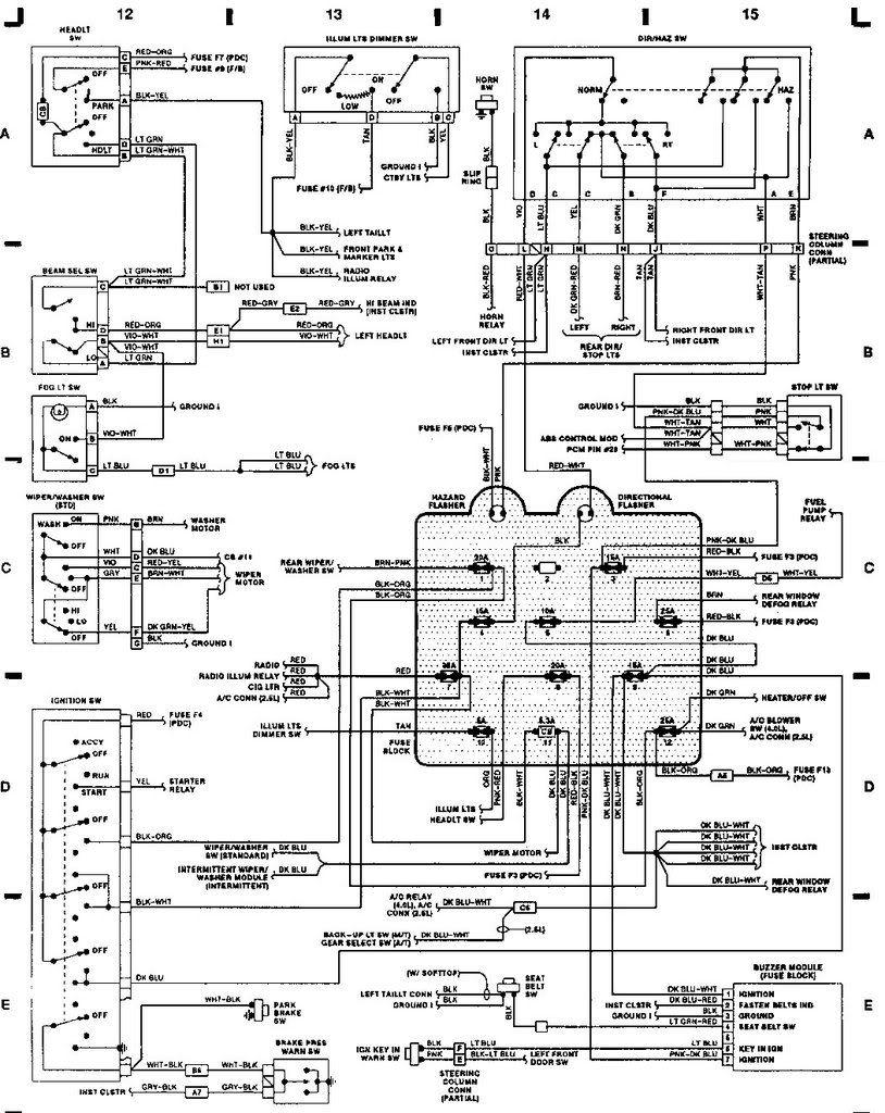 Phenomenal 89 Jeep Yj Wiring Diagram Yj Wiring Help Jeep Yj Jeep Wrangler Wiring Cloud Staixaidewilluminateatxorg