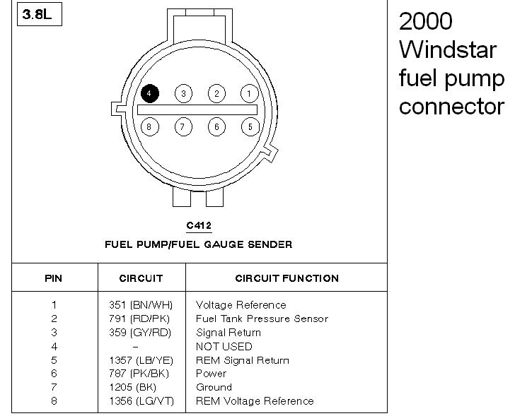 2001 Ford Windstar Fuel Pump Wiring Diagram - Wiring Diagram