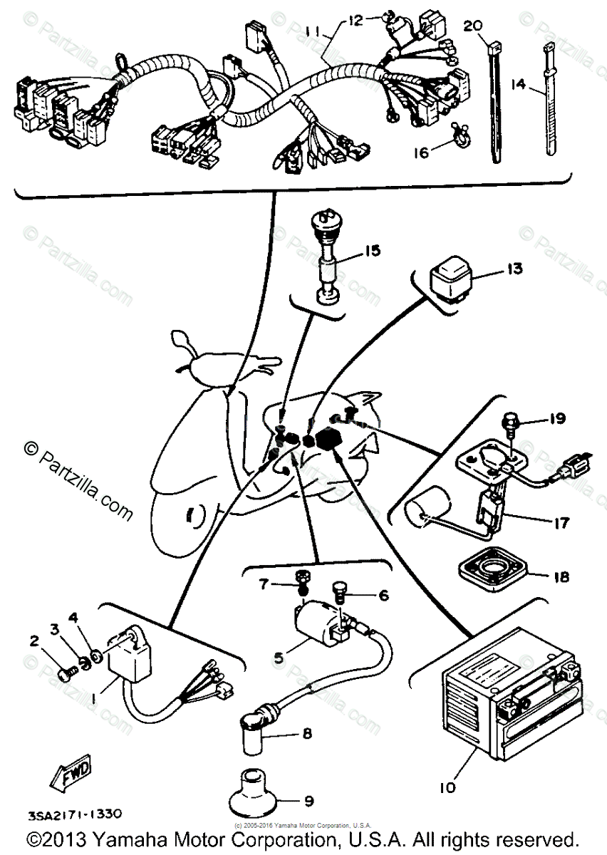 Yamaha Jog Scooter Wiring Diagram