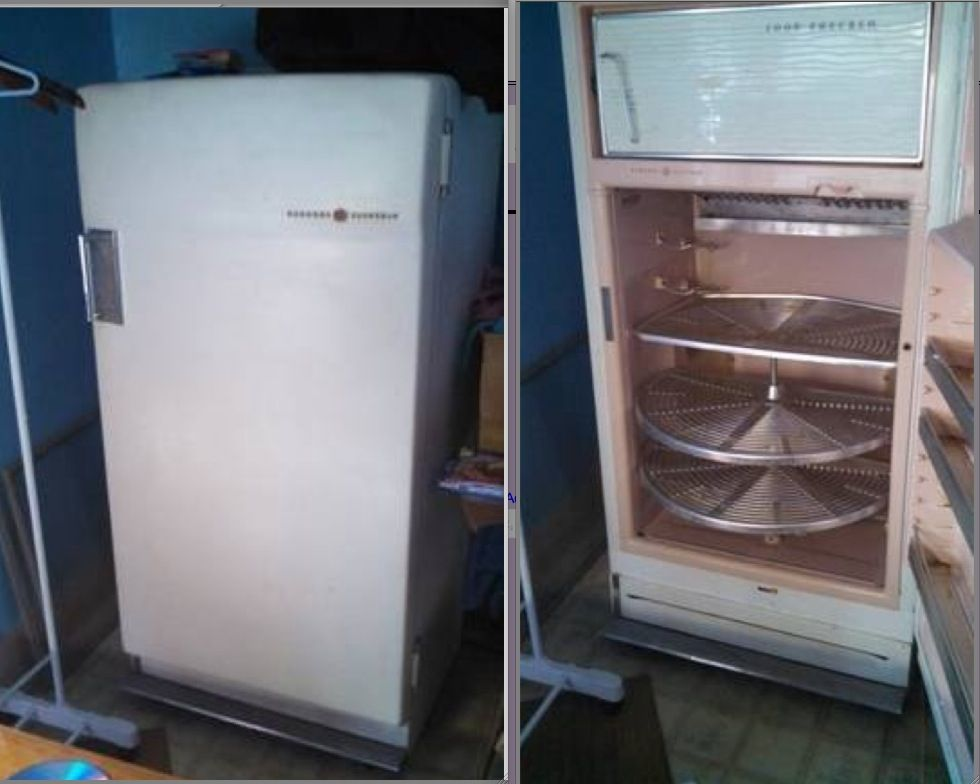 Re 3502 Ge General Electric Custom Combination Refrigerator Fridge 1950s Schematic Wiring