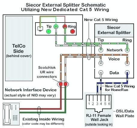 dsl splitter cat5e wiring diagram  93 cherokee wiring